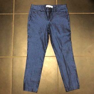 Black/blue shiny pixie ankle pants